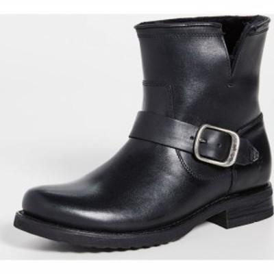 フライ Frye レディース ブーツ ブーティー シアリング シューズ・靴 Veronica Shearling Booties Black