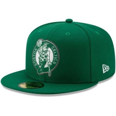 ユニセックス スポーツリーグ バスケットボール Boston Celtics New Era Back Half 59FIFTY Fitted Hat - Kelly Green 帽子