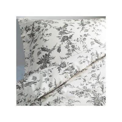 IKEA イケア 掛け布団カバー&枕カバー ホワイト グレー アルヴィーネ クヴィスト ALVINE KVIST