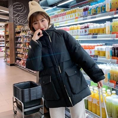 暖かい 可愛い 韓国風 レディース ダウンコート 防寒服 通勤 通学 ショートコート フード付き 厚手上着 ダウンジャケット 中綿コート アウター ゆったり