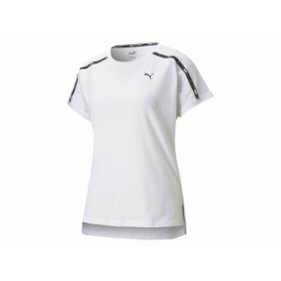 プーマ PUMA ロゴ リラックスフィット Tシャツ レディース 春 夏 ホワイト 白 スポーツ フィットネス 半袖 Tシャツ 520738-02