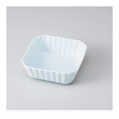 和食器 青磁菊型 正角鉢 中鉢 ボウル おうち ごはん うつわ 陶器 カフェ 日本製 おしゃれ 煮物 サラダ