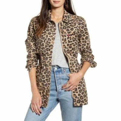 リーバイス LEVIS レディース ジャケット ミリタリージャケット アウター Cotton Oversize Military Jacket Leopard