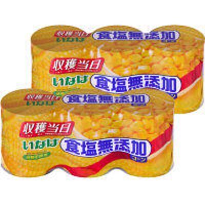 いなば食品いなば 食塩無添加コーン3缶 2個(3缶パック×2個) 素材缶詰