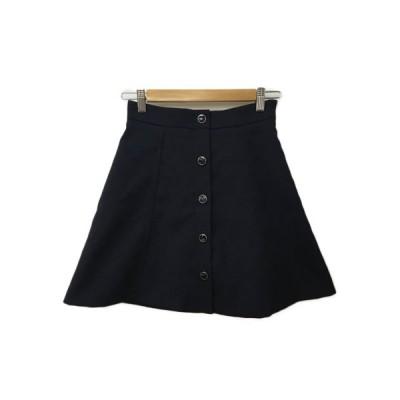 【中古】ジルスチュアート JILL STUART スカート 台形 フレア ミニ 0 紺 ネイビー レディース 【ベクトル 古着】