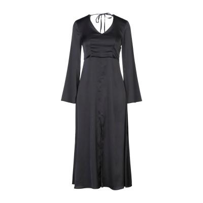 VICOLO 7分丈ワンピース・ドレス ブラック S ポリエステル 97% / ポリウレタン 3% 7分丈ワンピース・ドレス