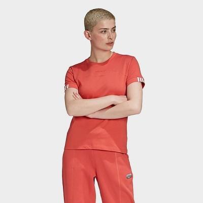 アディダス レディース Tシャツ adidas Originals Printed Crop T-Shirt 半袖 Trace Scarlet