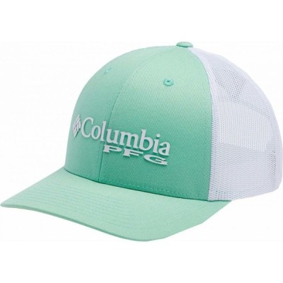 コロンビア Columbia レディース キャップ 帽子 PFG Mesh Ball Cap New Mint/White/Sunnyside/PFG Logo