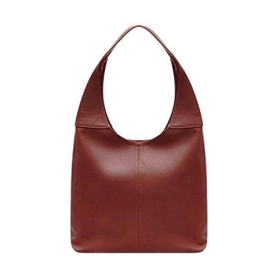Handbag Bliss Italian Leather Soft Slouch Shoulder Bag Handbag Med Lg with Leather Mobile Phone Pocket Brown Dark Tan 並行輸入品