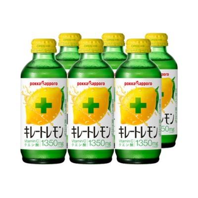 【関東のみ送料無料】ポッカ キレートレモン 155ml瓶 6本セット