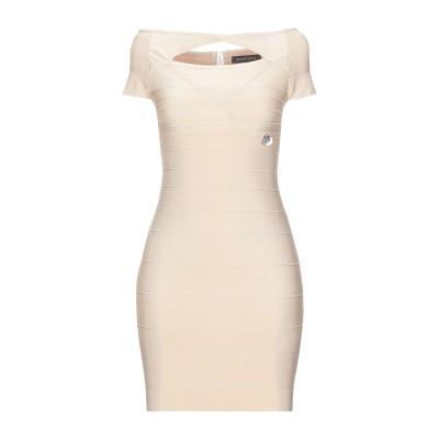 MANGANO ミニワンピース&ドレス ベージュ M ポリエステル 90% / ポリウレタン 10% ミニワンピース&ドレス