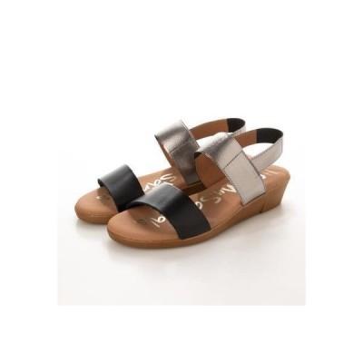 オー マイ サンダルズ Oh my Sandals ダブルベルトサンダル (ブラック)