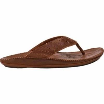 オルカイ サンダル Hoe Thong Sandal Dark Wood/Toffee Leather
