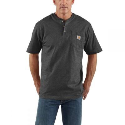 カーハート CARHARTT メンズ Tシャツ ヘンリーシャツ トップス Workwear Henley CARBON HEATHER