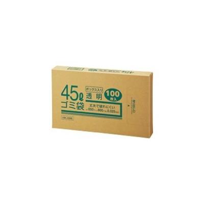 ds-1574139 (まとめ) クラフトマン 業務用透明 メタロセン配合厚手ゴミ袋 45L BOXタイプ HK-096 1箱(100枚) 【×10セット】 (ds1574139)