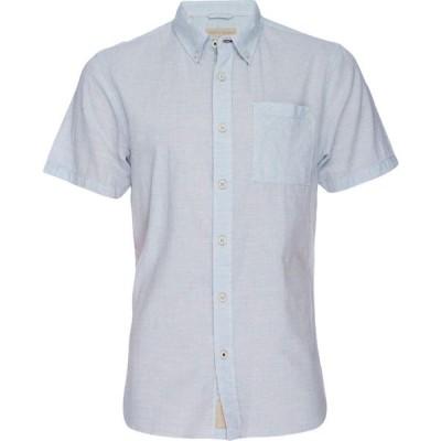 ニフティジーニアス Nifty Genius メンズ シャツ トップス Truman Button Collar Microstripe Blue