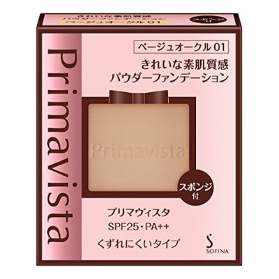 プリマヴィスタ きれいな素肌質感パウダーファンデーション ベージュオークル01 SPF25 PA++