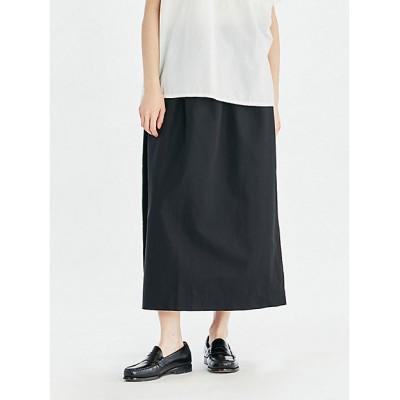 <mizuiro ind(Women)/ミズイロインド> サイドリボンロングスカート ブラック(99)【三越伊勢丹/公式】