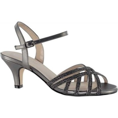 タッチアップス Touch Ups レディース サンダル・ミュール シューズ・靴 Amara Strappy Sandal Pewter Glitter Synthetic