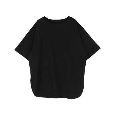 ティティベイト titivate カットソービッグシルエットTシャツ (ブラック)
