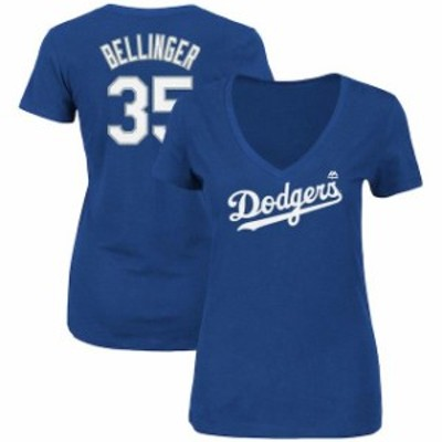 Majestic マジェスティック スポーツ用品  Majestic Cody Bellinger Los Angeles Dodgers Womens Royal Name & Number V-N