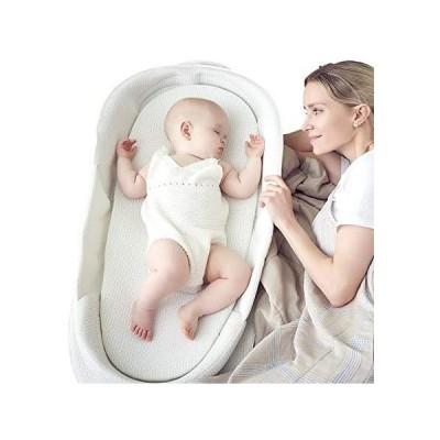 ベビーアムールBebamour ベビーベッド 折りたたみ式 ベッドインベッド 添い寝 簡易ベッド 新生児 携帯型ベビーベッド 通気性抜群 (白)