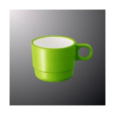 メラミン マグカップ 84X116mm H65mm 250cc 身(ふたは別売り) ライトグリーン[C6LG] マルケイ 業務用プラスチック食器 D8