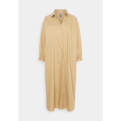 カルチャー レディース ワンピース トップス OLENA DRESS - Day dress - tannin tannin