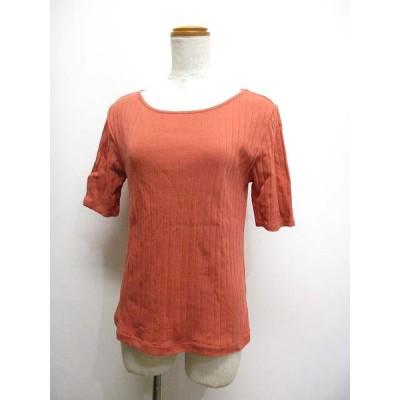 【中古】エニィファム anyFam 五分袖 ワイドリブ カットソー 2 ピンク系 Tシャツ 綿100% レディース 【ベクトル 古着】