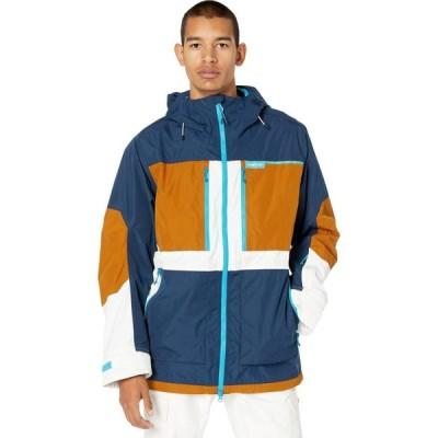 バートン Burton メンズ スキー・スノーボード ジャケット アウター Frostner Jacket Dress Blue/True Penny/Stout White