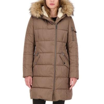 ヴィンスカムート コート アウター レディース Petite Faux-Fur-Trim Hooded Puffer Coat Mink