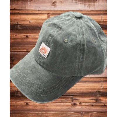 THE CASUAL / ネームワッペン ベースボール キャップ ツイル デニム MEN 帽子 > キャップ