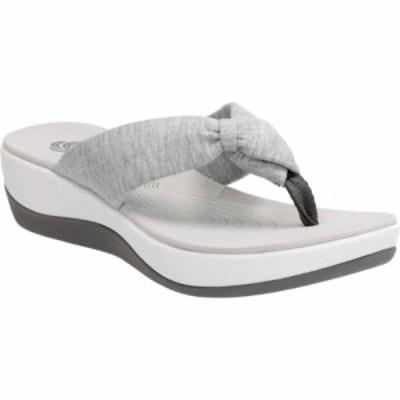 クラークス Clarks レディース サンダル・ミュール ビーチサンダル シューズ・靴 Arla Glison Thong Sandal Grey Heather Fabric