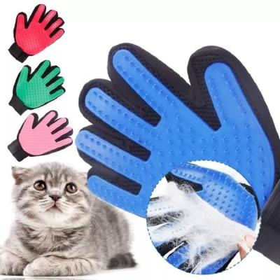 ペット犬desheddingツールクリーニンググローブ猫犬指シリコーン手  スクラブ槽クリーン