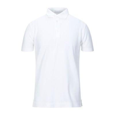 クルチアーニ CRUCIANI ポロシャツ ホワイト 52 コットン 100% ポロシャツ
