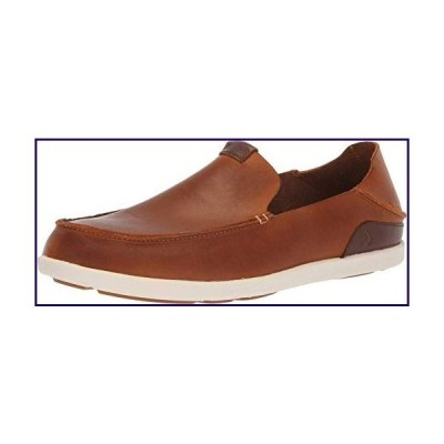 OLUKAI Men's Nalukai Slip On Shoes, Fox/Bone, 13【並行輸入品】