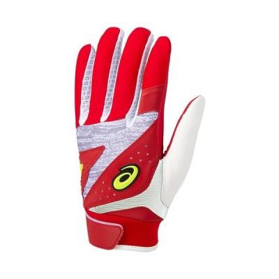 アシックス ASICS 野球 守備用 カラー手袋 3121A468 602 レッド×ホワイト 【2020SS】