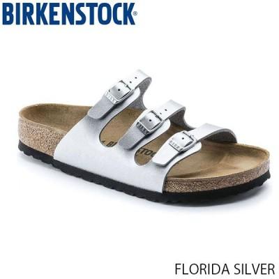 ビルケンシュトック BIRKENSTOCK レディース サンダル フロリダ FLORIDA WOMEN トリプルストラップ シルバー 幅狭 ナロー ビルコフロー GC954383 国内正規品