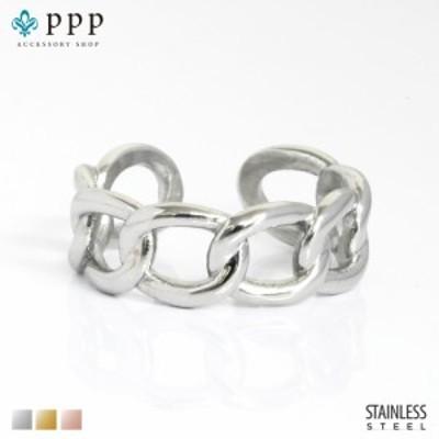 ステンレス リング(179)チェーンリング 銀色(メイン) 指輪 金属アレルギー対応 レディース メンズ 送料無料  サージカル
