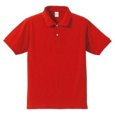 ユナイテッドアスレ カジュアルウェア 5.3オンスドライ CVC ポロシャツ 16 レッド ポロシャツ(505001-69)