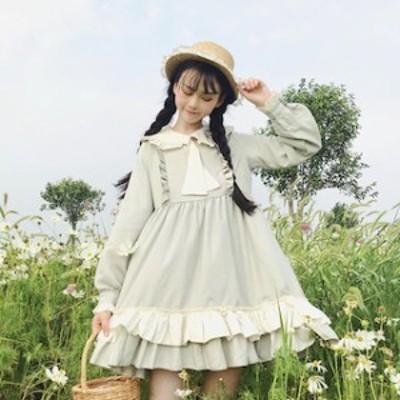 ゴスロリ ワンピース 服 【T001-HALN0696】