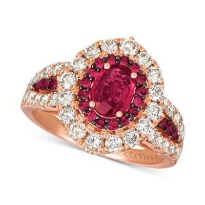 ルヴァン レディース リング アクセサリー Certified Ruby (1-1/5 ct. t.w.) & Diamond (1-1/4 ct. t.w.) Ring in 14k Rose Gold Ruby