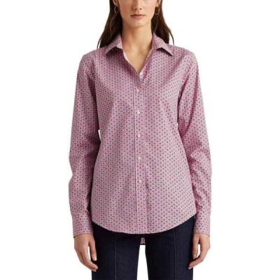 ラルフ ローレン LAUREN Ralph Lauren レディース ブラウス・シャツ トップス Easy Care Floral Cotton Shirt Pink Multi