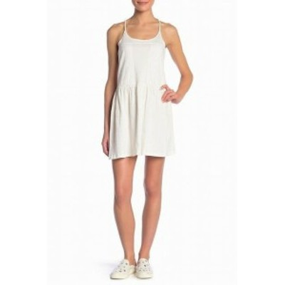 Roxy ロキシー ファッション ドレス Roxy NEW White Womens Size XL La Ponte Embroidered Textured Tank Dress