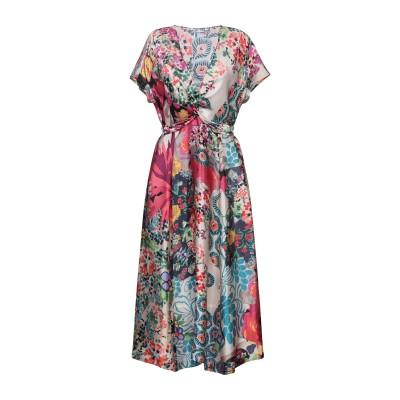 カリバン CALIBAN 7分丈ワンピース・ドレス フューシャ 44 シルク 100% 7分丈ワンピース・ドレス