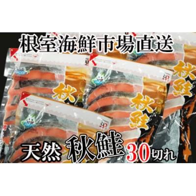 甘口秋鮭切身5切×6P(計30切、約1.5kg) A-14006