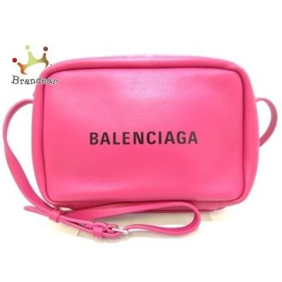 バレンシアガ ショルダーバッグ 美品 エブリデイカメラバッグS 489812 ピンク×黒 レザー  値下げ 20200510