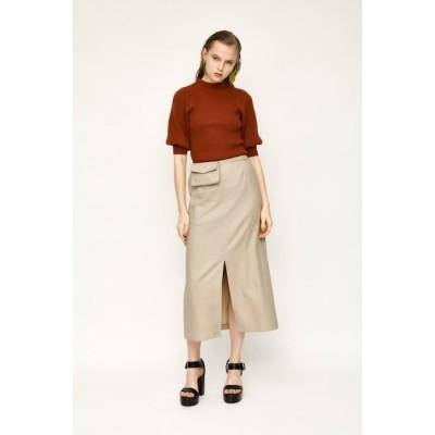 【スライ/SLY】 LINEN BLEND POCHETTE SLIT ロングスカート