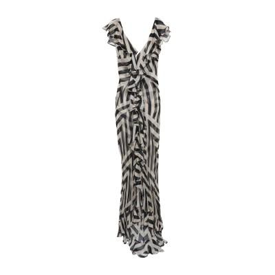 DE LA VALI ロングワンピース&ドレス ドーブグレー 8 シルク 100% ロングワンピース&ドレス