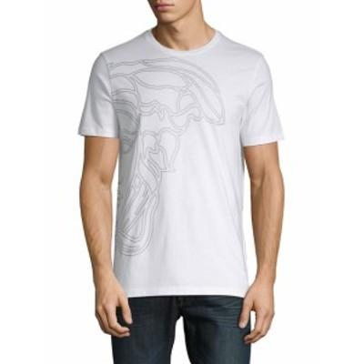 ヴェルサーチコレクション Men Clothing Logo Cotton Tee